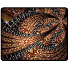 Patterns Background Dark  Double Sided Fleece Blanket (medium)  by amphoto