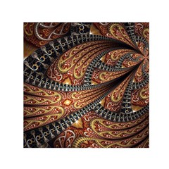Patterns Background Dark  Small Satin Scarf (square)  by amphoto