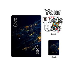 Spots Dark Lines Glimpses 3840x2400 Playing Cards 54 (mini)  by amphoto