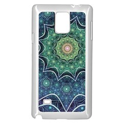 Background Line Light  Samsung Galaxy Note 4 Case (white) by amphoto