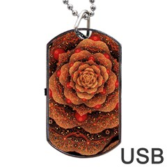 Flower Patterns Petals  Dog Tag Usb Flash (two Sides) by amphoto