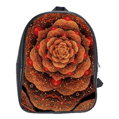 Flower Patterns Petals  School Bag (xl) by amphoto