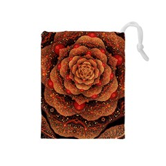 Flower Patterns Petals  Drawstring Pouches (medium)  by amphoto