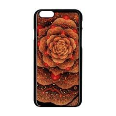 Flower Patterns Petals  Apple Iphone 6/6s Black Enamel Case by amphoto