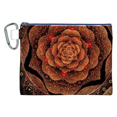 Flower Patterns Petals  Canvas Cosmetic Bag (xxl) by amphoto