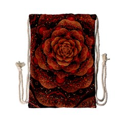Flower Patterns Petals  Drawstring Bag (small) by amphoto