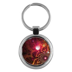 Explosion Background Bright  Key Chains (round)  by amphoto