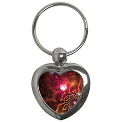 Explosion Background Bright  Key Chains (heart)  by amphoto