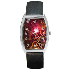 Explosion Background Bright  Barrel Style Metal Watch by amphoto