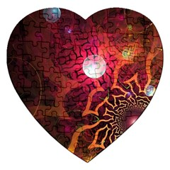 Explosion Background Bright  Jigsaw Puzzle (heart) by amphoto