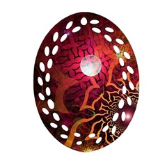 Explosion Background Bright  Ornament (oval Filigree) by amphoto