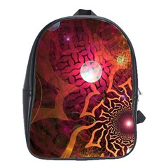 Explosion Background Bright  School Bag (xl) by amphoto