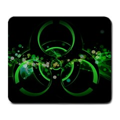 Radiation Sign Spot  Large Mousepads by amphoto