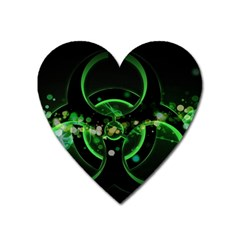 Radiation Sign Spot  Heart Magnet by amphoto