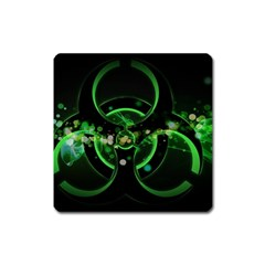 Radiation Sign Spot  Square Magnet by amphoto