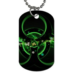 Radiation Sign Spot  Dog Tag (two Sides) by amphoto