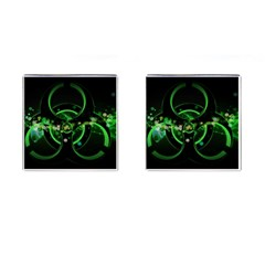 Radiation Sign Spot  Cufflinks (square) by amphoto