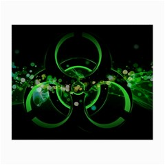 Radiation Sign Spot  Small Glasses Cloth (2 Side) by amphoto