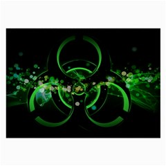 Radiation Sign Spot  Large Glasses Cloth by amphoto