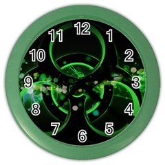 Radiation Sign Spot  Color Wall Clocks by amphoto