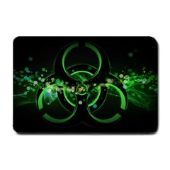 Radiation Sign Spot  Small Doormat  by amphoto