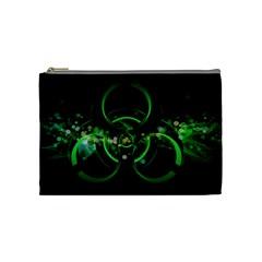 Radiation Sign Spot  Cosmetic Bag (medium)  by amphoto