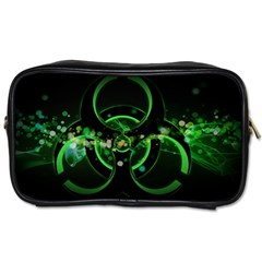 Radiation Sign Spot  Toiletries Bags 2 Side by amphoto