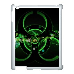 Radiation Sign Spot  Apple Ipad 3/4 Case (white) by amphoto