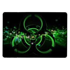 Radiation Sign Spot  Samsung Galaxy Tab 10 1  P7500 Flip Case by amphoto