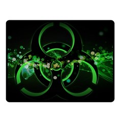 Radiation Sign Spot  Double Sided Fleece Blanket (small)  by amphoto