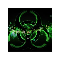 Radiation Sign Spot  Small Satin Scarf (square)  by amphoto