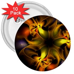 Art Fractal  3  Buttons (10 Pack)  by amphoto
