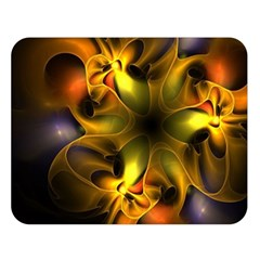 Art Fractal  Double Sided Flano Blanket (large)  by amphoto