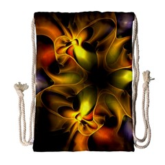 Art Fractal  Drawstring Bag (large) by amphoto