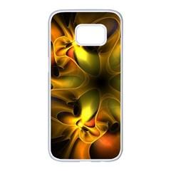 Art Fractal  Samsung Galaxy S7 Edge White Seamless Case by amphoto