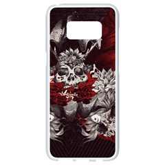 Patterns Bright Background  Samsung Galaxy S8 White Seamless Case by amphoto