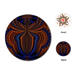 Patterns Light Dark Playing Cards (round)  by amphoto