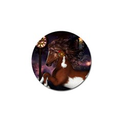 Steampunk Wonderful Wild Horse With Clocks And Gears Golf Ball Marker (10 Pack) by FantasyWorld7