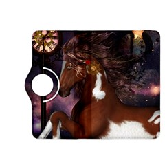 Steampunk Wonderful Wild Horse With Clocks And Gears Kindle Fire Hdx 8 9  Flip 360 Case by FantasyWorld7