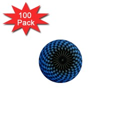 Patterns Circles Rays  1  Mini Magnets (100 Pack)  by amphoto