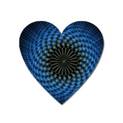 Patterns Circles Rays  Heart Magnet by amphoto