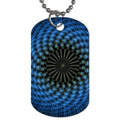 Patterns Circles Rays  Dog Tag (two Sides) by amphoto
