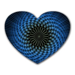 Patterns Circles Rays  Heart Mousepads by amphoto