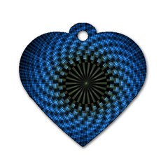 Patterns Circles Rays  Dog Tag Heart (two Sides) by amphoto