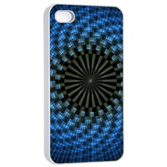 Patterns Circles Rays  Apple Iphone 4/4s Seamless Case (white) by amphoto