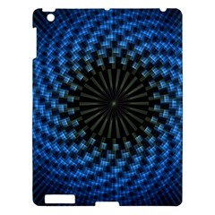 Patterns Circles Rays  Apple Ipad 3/4 Hardshell Case by amphoto