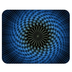 Patterns Circles Rays  Double Sided Flano Blanket (medium)  by amphoto