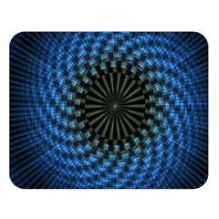 Patterns Circles Rays  Double Sided Flano Blanket (large)  by amphoto