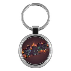 Abstraction Patterns Stripes  Key Chains (round)  by amphoto