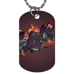 Abstraction Patterns Stripes  Dog Tag (two Sides) by amphoto